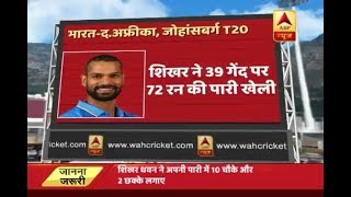 India Vs South Africa T20: When Shikhar Dhawan played like a storm with 10 fours and 2 sixes - ABPNEWSTV