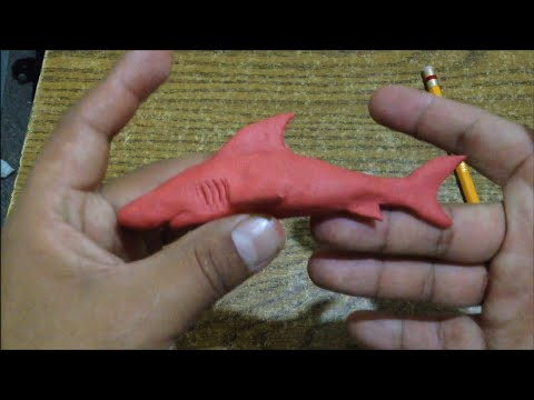 Como hacer un Tiburón de Plastilina / How to make a shark with plasticine - step by step