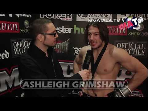 Ashleigh Grimshaw UCMMA 33 speaks of his victory over David Lee