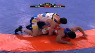 PWL 3 Day 12: Soslan Ramonov Vs Harphool Gulia at Pro Wrestling League season 3 | Highlights - NEWSXLIVE