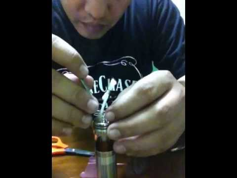 Video tutorial for AGI Atty using Bakero wick and wire+.20 kanthal wire...