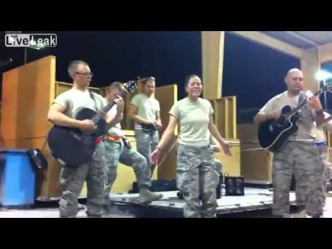 "Deployed Troops cover Adele ""Rolling in the Deep"""