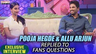 Allu Arjun & Pooja Hegde Replied To Fans Questions || Allu Arjun & Pooja Hegde Interview About DJ - ADITYAMUSIC