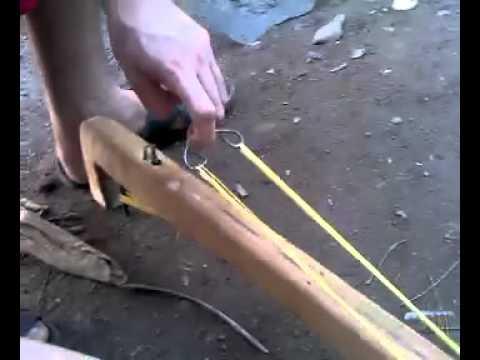 arpon casero con gatillo