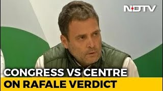 "Rahul Gandhi After Rafale Verdict: ""Will Prove PM Helped Anil Ambani"" - NDTV"