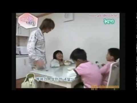 TeukMin Moment #18 SungMin jealous of the kids?