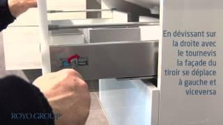 regler tiroir meuble salle de bain