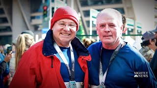 Heart Attack Survivor Runs Marathon Again With Surgeon Who Saved His Life  NBC Nightly News - NBCNEWS