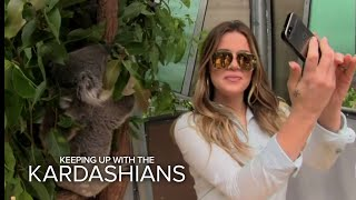 Khloe Takes Selfie with a Koala | Keeping Up With the Kardashians | E! - EENTERTAINMENT
