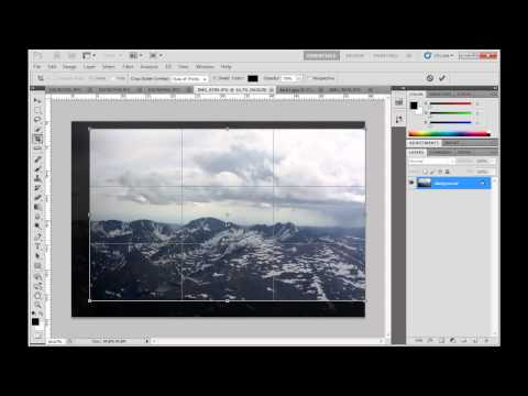 Rotate, Crop, Straighten, and Transform an Image Using Photoshop CS5