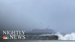 Passengers Airlifted From Stranded Cruise Ship Amid Turbulent Weather | NBC Nightly News - NBCNEWS