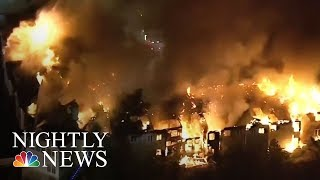 Pennsylvania Senior Center Destroyed By Massive Fire | NBC Nightly News - NBCNEWS