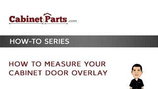 How to Measure Your Cabinet Door Overlay - YouTube