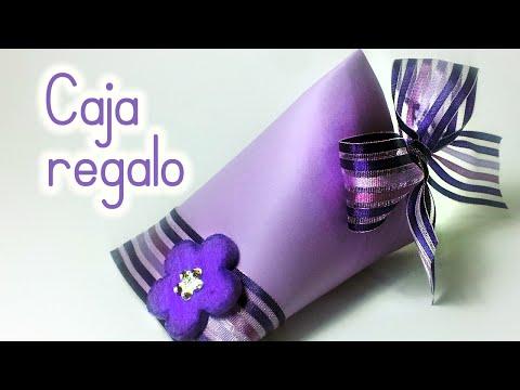 Manualidades: CAJA para REGALO reciclando un rollo de papel higiénico - Innova Manualidades