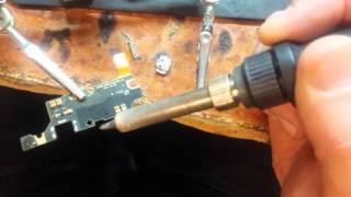 ремонт сотовых телефонов. samsung note замена гнезда зарядки charging not worked