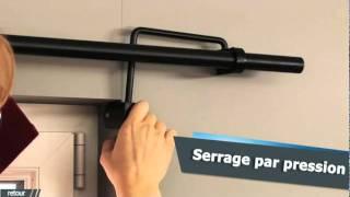 Barre De Rideau Pour Porte ridorail / ib+ tringle à rideau pour fenêtre encastrée - youtube