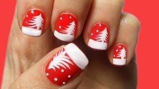 Decorazioni unghie corte natalizie