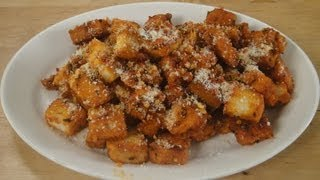 Saucy Tomato Croutons ..