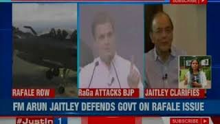 Rafale Deal row: FM Arun Jaitley defends the government on the issue - NEWSXLIVE
