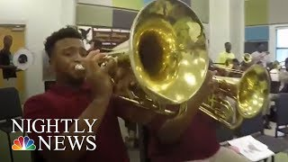 Those Who Serve: New Orleans Officers Mentoring Young People Through Music | NBC Nightly News - NBCNEWS