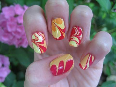 Tie Dye For Your Nails Water Marble Nail Art Tutorial Mz Mahogany