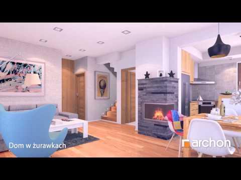 Dom w żurawkach. Wirtualny spacer po wnętrzu. Projekt ARCHON+