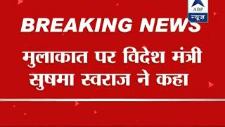 Wait till tomorrow: Swaraj on possible Modi-Sharif meeting - ABPNEWSTV