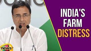 AICC Press Briefing By Randeep Surjewala in Congress on India's farm distress | Mango News - MANGONEWS