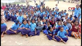 Students Protest for Teachers in Krishna Dist | CVR News - CVRNEWSOFFICIAL