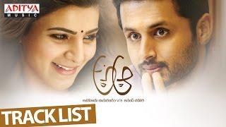 A Aa Track List Video II Nithiin, Samantha, Trivikram,  Mickey J Meyer - ADITYAMUSIC