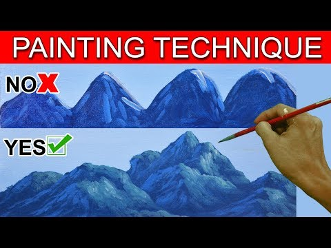 how to paint mountains in acrylic