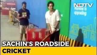 Sachin Tendulkar Bowls Over Fans, Joins Them For Late-Night Gully Cricket - NDTV