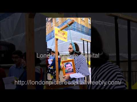 Iranians protest against hanging in Iran in London