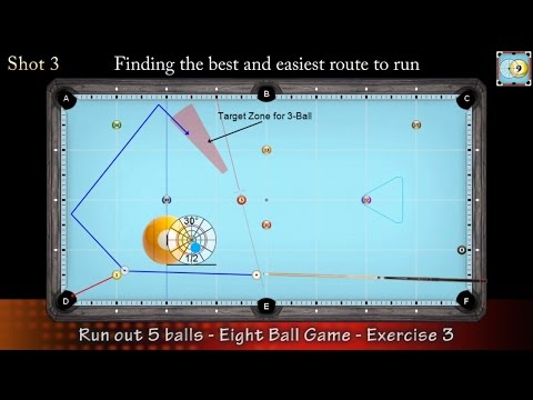 8-Ball Game situation #3 - How to Run Out - Pool & Billiard Training Lesson