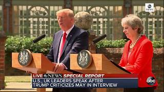 Pres. Trump, PM May hold joint news conference in U.K - ABCNEWS