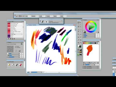 Tutorial  - Corel Painter 11 Overview -artist Jackie Jacobson