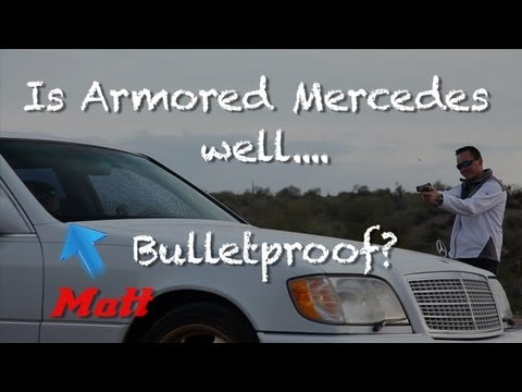Shooting Matt in Bulletproof Mercedes S600