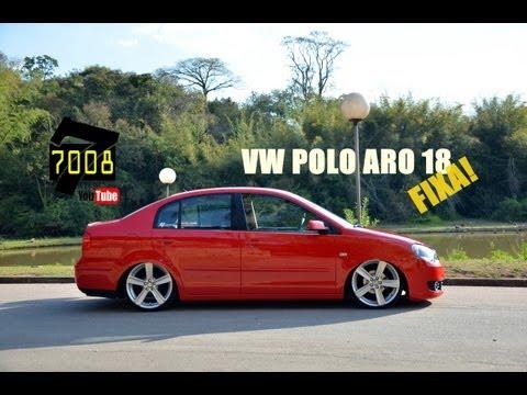 VW Polo Sedan aro 18 Rebaixado Suspensão Fixa - Thiago 272Club - Canal 7008films
