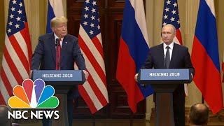Vladmir Putin Says He Wanted President Donald Trump To Win The Presidential Election | NBC News - NBCNEWS