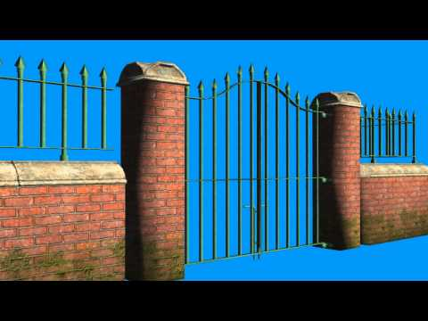 free green screen effects - gate - animation