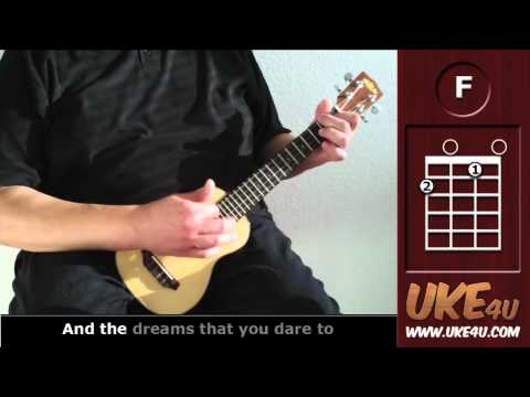 Somewhere Over The Rainbow ( IZ ) - Ukulele Tutorial - Chords, Lyrics