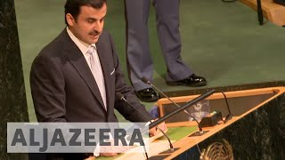 Qatar's emir addresses Gulf crisis at UN General Assembly - ALJAZEERAENGLISH