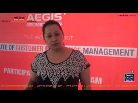 CERTIFIED CUSTOMER EXPERIENCE LEADER - Feedback from NAFISA THAKUR, VODAFONE