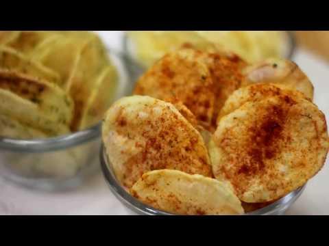 بطاطس شيبس بيتي/ من غير فرن او قلي بنكهات مختلفة Flavored Potato chips