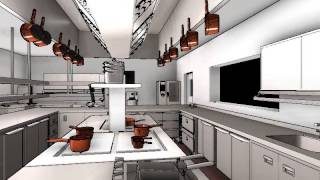 commercial kitchen design 3d animation youtube - Commercial Kitchen Layout