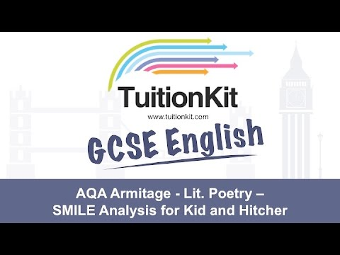 AQA Armitage - Lit. Poetry - SMILE Analysis for Kid and Hitcher