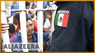 🇺🇸Migrant caravan stopped on Mexico-Guatemala border l Al Jazeera English - ALJAZEERAENGLISH