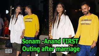 Sonam -Anand FIRST Outing after marriage - IANSLIVE