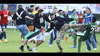 بالفيديو .. جماهير ليل الفرنسي تتضامن مع غزة وتعتدي على لاعبي مكابي حيفا