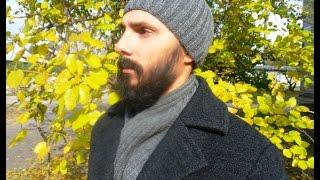 Вязание мужской шапки и шарфа двойной резинкой